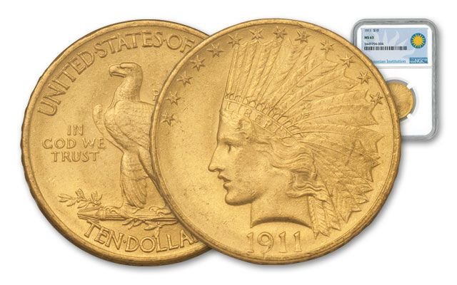 1907-1933 10 Dollar Gold Indian NGC MS63 Smithsonian Coin Classics