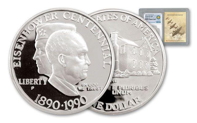 1990-P 1 Dollar Eisenhower Centennial NGC PF69UCAM