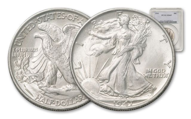 1941-1947 Walking Liberty Half Dollar NGC/PCGS MS65