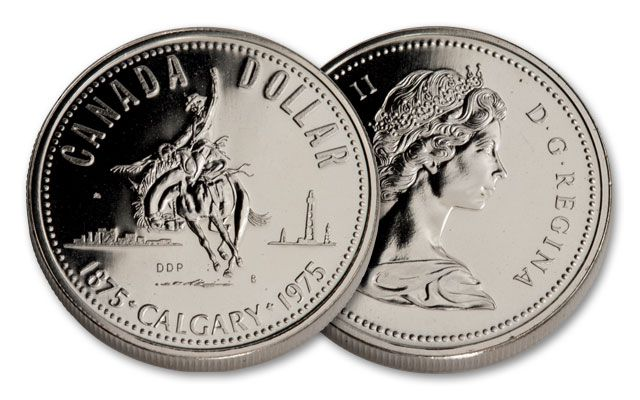 1975 Canada 1 Dollar Silver Calgary Proof Like