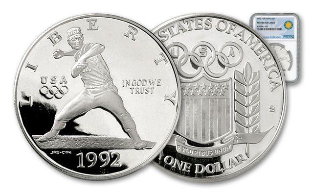 1992-D Baseball Olympics Silver Dollar NGC PR69
