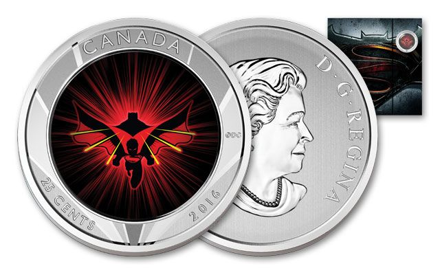 2016 Canada 25 Cent Silver Batman vs. Superman Lenticular Specimen