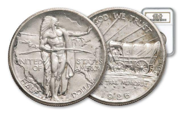 1926-1939 Half Dollar Silver Oregon Trail NGC/PCGS MS65