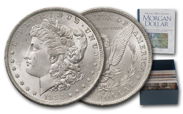 1879-1901 Morgan Silver Dollar BU 12 Piece Collection with 4x6 Holders