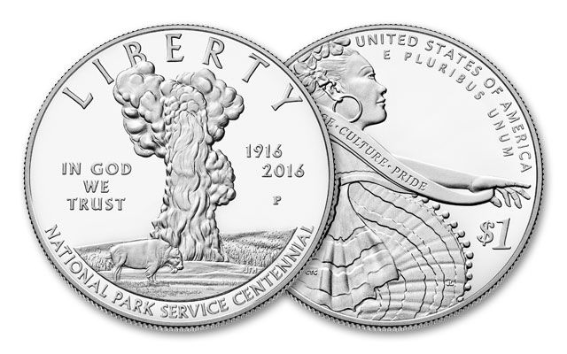 2016 1 Dollar National Parks Silver Commemorative Proof