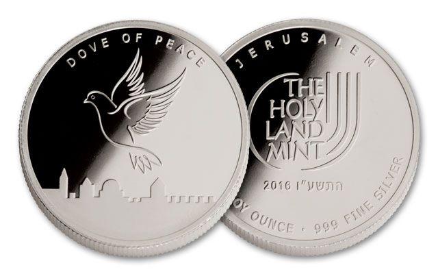 2016 1-oz Silver Dove of Peace Round