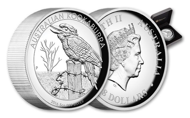 2016 Australia 5-oz Silver Kookaburra High Relief Proof
