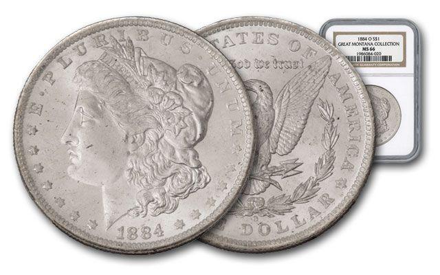 1884-O Morgan Silver Dollar NGC MS66 - Great Montana Collection