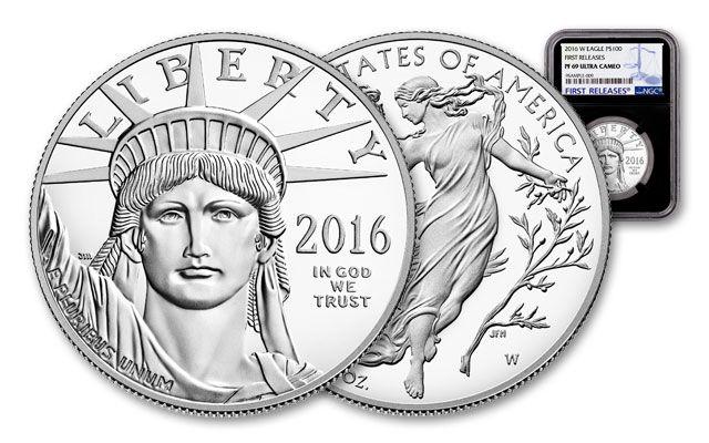 2016-W 100 Dollar 1-oz Platinum Black Core NGC PF69
