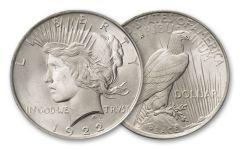 1922-P Peace Dollar BU