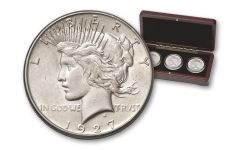 1927-PDS Peace Dollar Murderers Row Collection AU