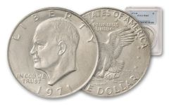 1971-D Eisenhower Dollar PCGS MS65