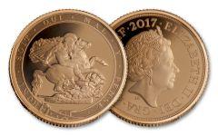 2017 Great Britain Gold Quarter Sovereign NGC Gem Proof