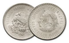 1947-1948 Mexico 5 Pesos Silver Cuauhtemoc Uncirculated