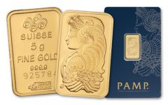 Pamp Suisse 5 Gram Gold Bar in Assay Card