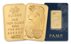 PAMP Suisse 1-oz Gold Bar in Assay Card