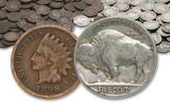 Half Troy Pound Bag of Buffalos and Indians