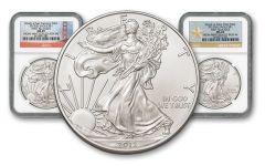 2012-SW 1 Dollar 1-oz Silver Eagle 2pc Set NGC MS69 Box #6