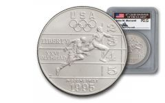 1995-D 1 Dollar Olympic Track and Field PCGS MS69 Mercanti Signed