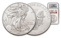 2012-S/W 1 Dollar 1-oz Silver Eagle 2pc Set NGC MS69 Box #1