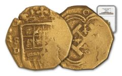 1556-98 Spain 2 Escudos COB Seville NGC VF30