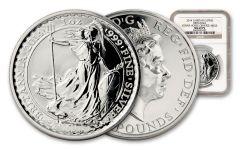 2014 Great Britain 1-oz Silver Britannia MULE NGC MS69 PL