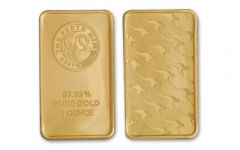 Australia 1-oz Gold Kangaroo Gold Bar - Perth Mint