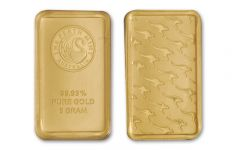 Australia 5 Gram Gold Kangaroo Gold Bar - Perth Mint