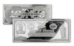 1861 10 Dollar 4-oz Silver Demand Note Gem Proof