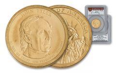 2009 1 Dollar Presidential Error John Tyler PCGS MS67 Moy Signed