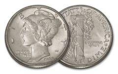 1942 10 Cents Mercury Dimes BU