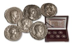 193-235 CE Silver Severan Set: Women of Rome 6 Pc Set