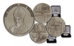 2015 1-oz Silver Pope Francis US Tour 3 Piece Set BU
