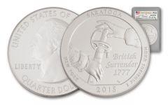 2015 5-oz Silver America the Beautiful Saratoga PCGS SP69 FDI Moy Signed
