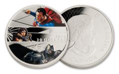 2016 Canada 30 Dollar 2-oz Silver Batman vs Superman Proof