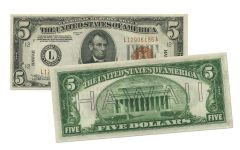 1934 U.S. 5 Dollar Federal Reserve notes