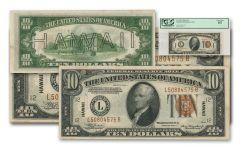 1934 U.S. 10 Dollar Federal Reserve Notes