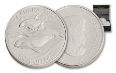 2016 Canada 100 Dollar 1-oz Silver Orca Whale Matte Proof