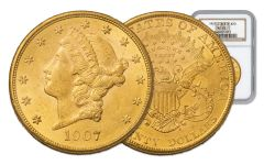 1877-1908-P 20 Dollar Gold Liberty with Motto Double Eagle NGC/PCGS MS62