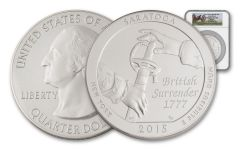 2015 25 Cent 5-oz Silver America the Beautiful Saratoga NGC SP70 FDI