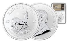 2017 South Africa Silver Krugerrand NGC SP69