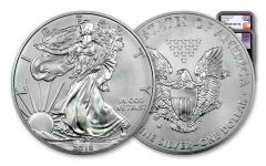 2018-W 1 Dollar 1-oz Burnished Silver Eagle NGC MS70 Early Releases –Mercanti-Jones 2pc Set Black