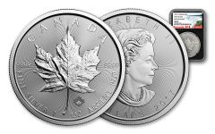 2017 Canada 5 Dollar 1-oz Silver Maple Leaf NGC MS69 First Releases - Black