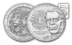 2017 1 Dollar Silver Lions Club Commemorative NGC MS69