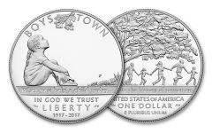 2017 1 Dollar Silver Boys Town Commemorative Proof