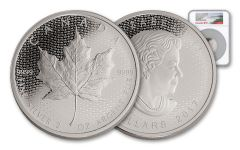 2017 Canada 10 Dollar 2-oz Silver Maple Leaf Matte NGC PF70 Early Release