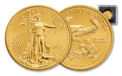 2017 5 Dollar 1/10-oz Gold Eagle BU with Magnified Holder