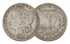 1901-S Morgan Silver Dollar VF
