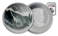 2016 Canada 20 Dollar 1-oz Silver Salmon NGC PF70UCAM Early Releases