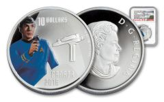 2016 Canada 10 Dollar Star Trek Spock NGC PF69UCAM Early Release